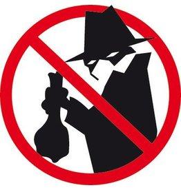 Prohibition for burglars sticker