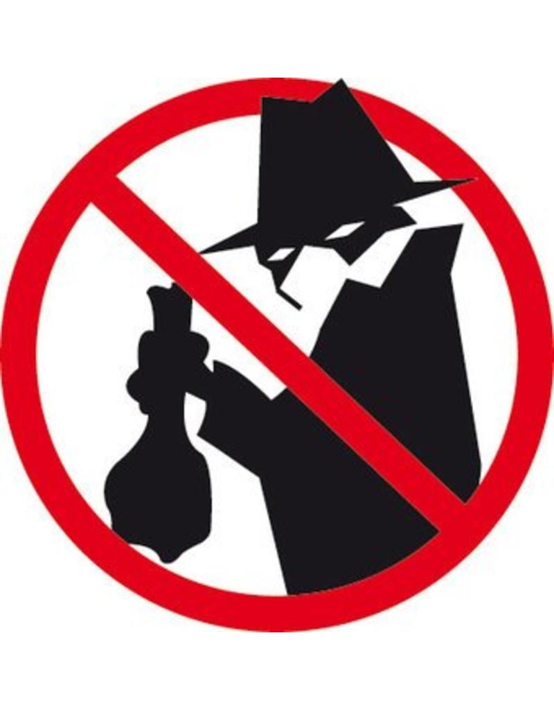 Pegatina prohibido para los ladrones