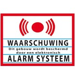 Warning alarm system sticker