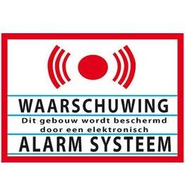 Pegatina advertencia instalación de alarma