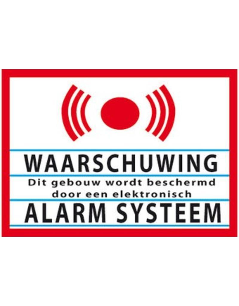 Waarschuwing alarm systeem Sticker