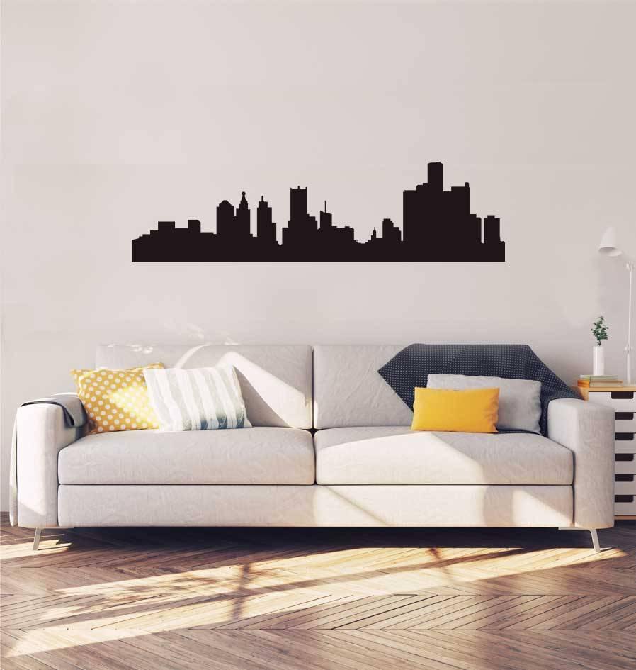 Skyline Detroit Sticker
