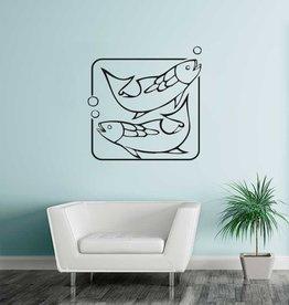 Vissen sterrrenbeeld sticker 1