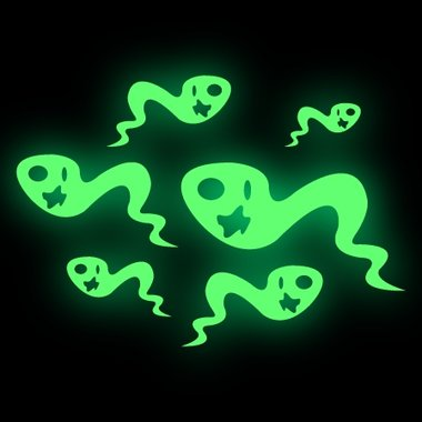 Glow-in-the-dark stickers