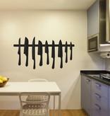 Etiqueta de la pared Cuchillos