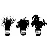 Wall Decal Herb Pots