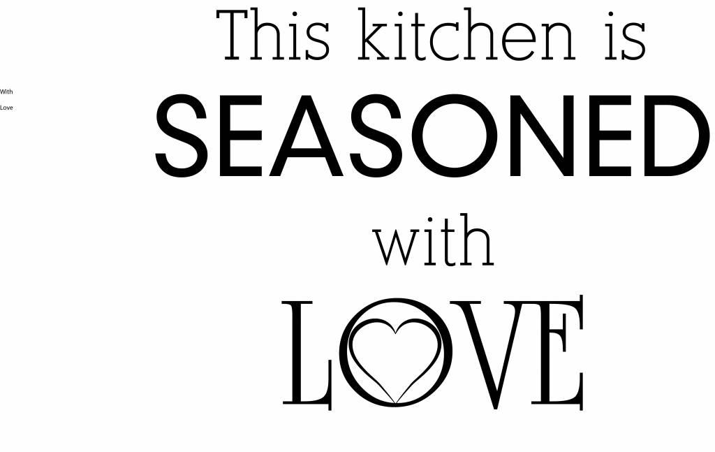 Autocollant Mural texte de cuisine 1
