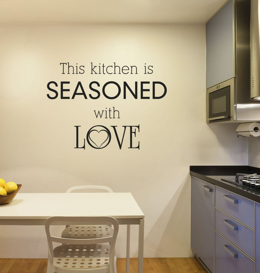 Etiqueta de la pared de la cocina de texto 1