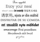 Etiqueta de la pared de la cocina de texto 3