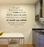 Muursticker keuken text 3