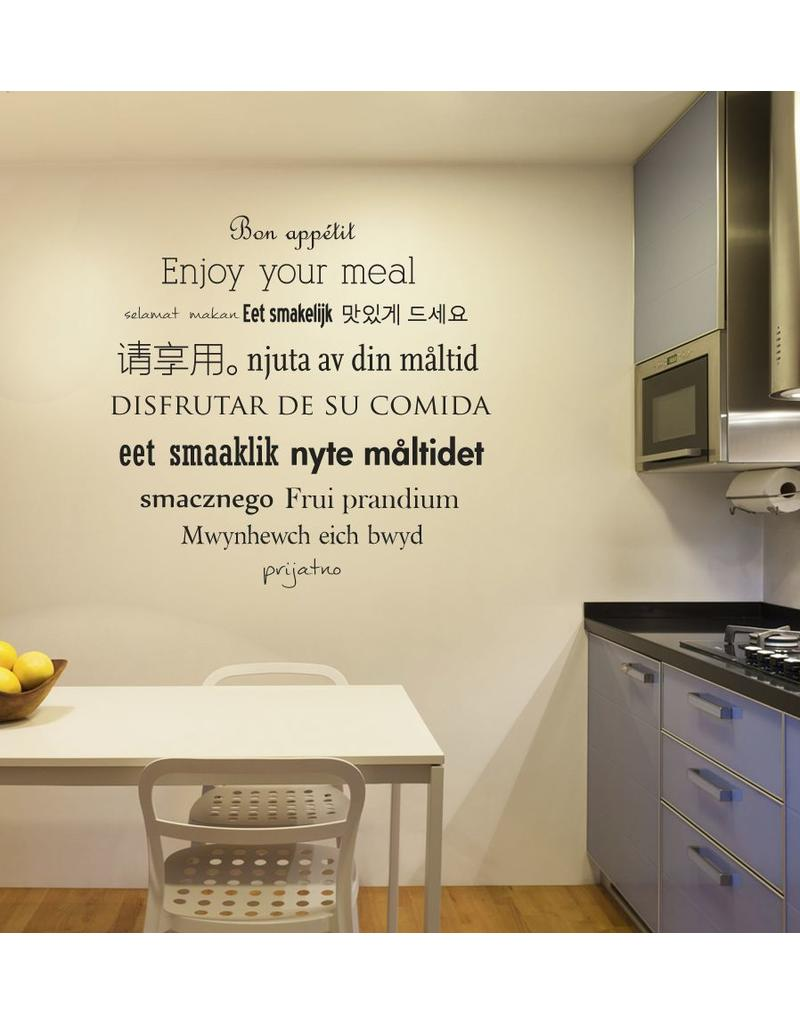 Wandaufkleber Küche Text 3