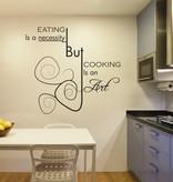 Etiqueta de la pared de la cocina de texto 4