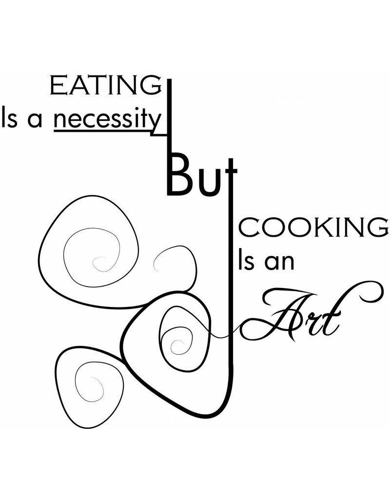 Wandaufkleber Küche Text 4