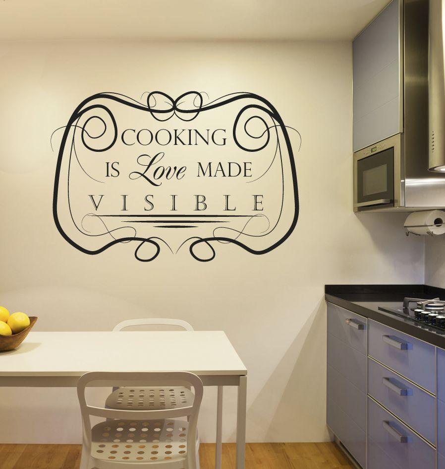 Etiqueta de la pared de la cocina de texto 5