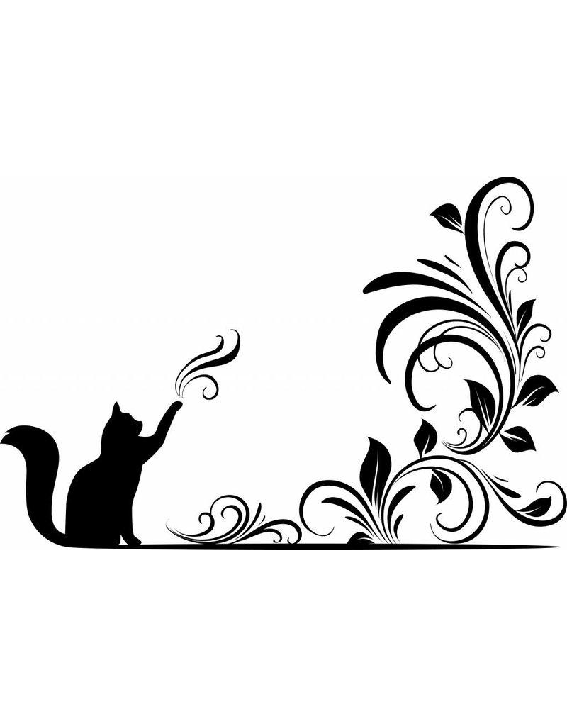 Wandaufkleber magischen Katze