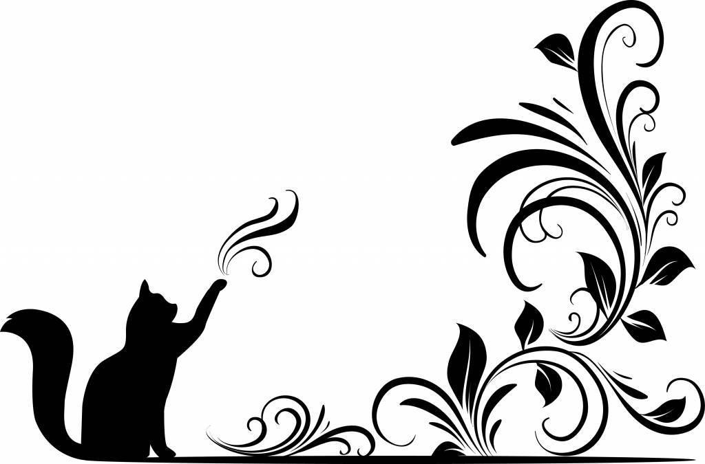 Muursticker magische Kat