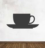 Black board Kitchen Cup & saucer Sticker