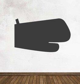 Autocollant tableau noir Cuisine Gant de four