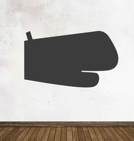 Black board Kitchen Oven glove Sticker