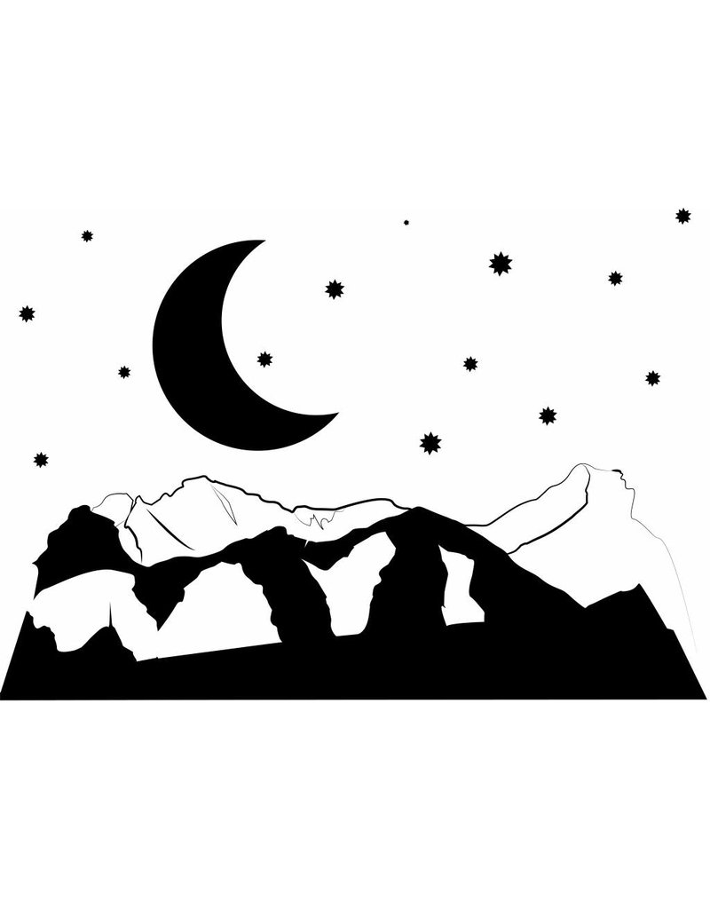 Wandaufkleber Nacht