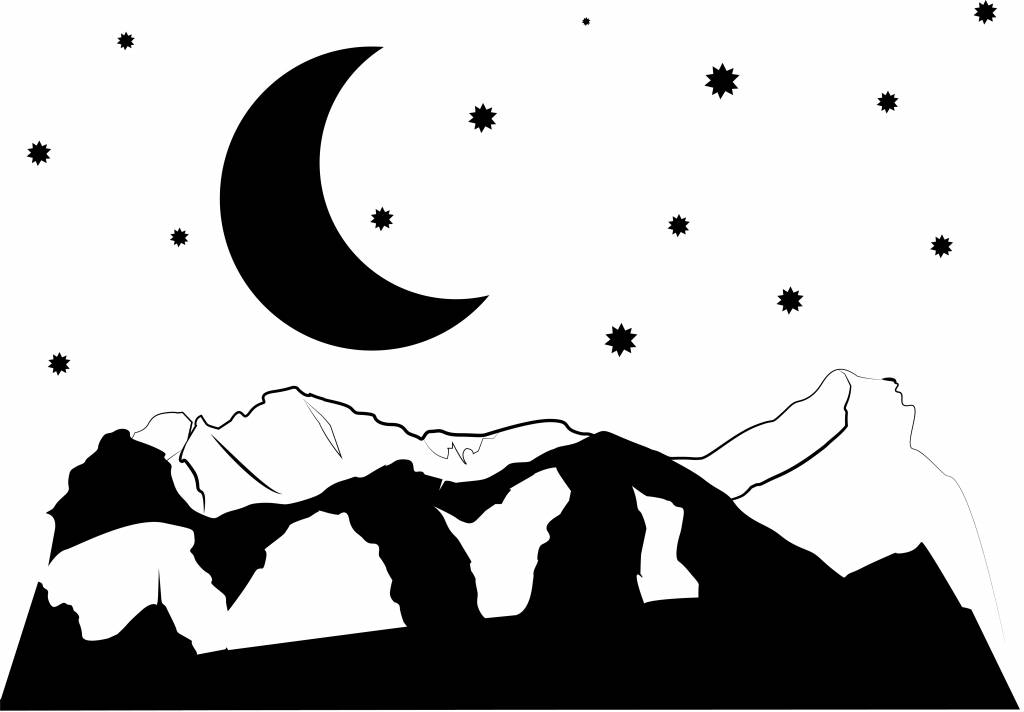 Etiqueta de la pared Noche
