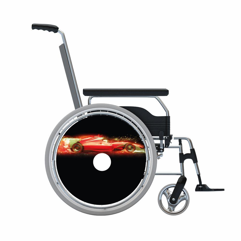 Speichenschutz Sticker Rollstuhl Sticker Rollstuhl F1-Auto 1