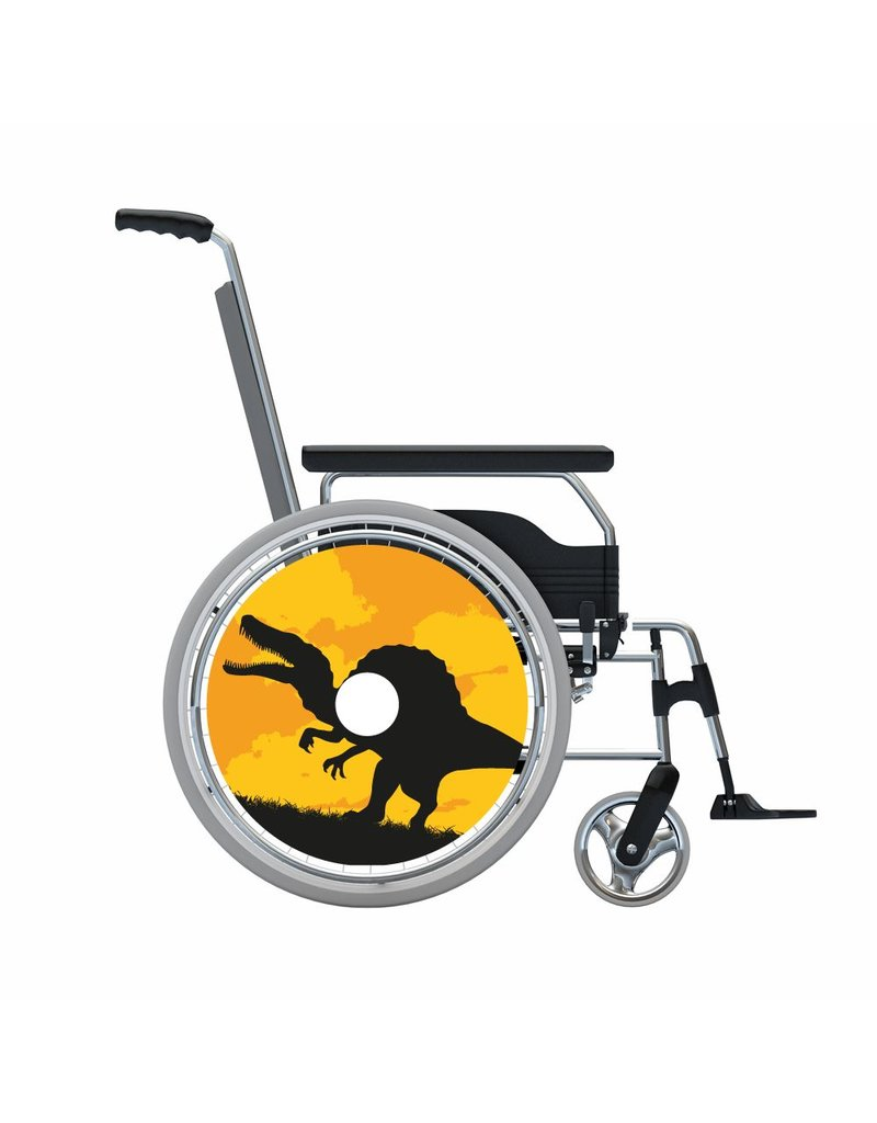 Autocollant protège-rayon dinosaure noir