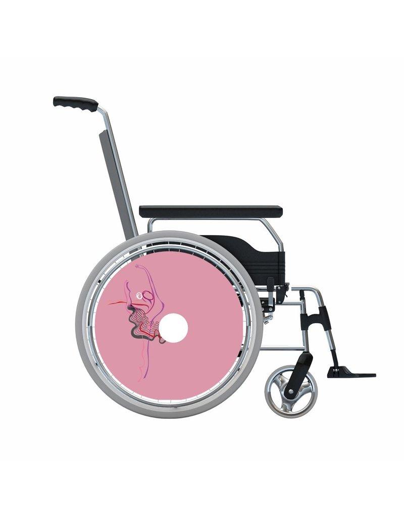 Speichenshutz 2 Ballett rosa Hintergrund