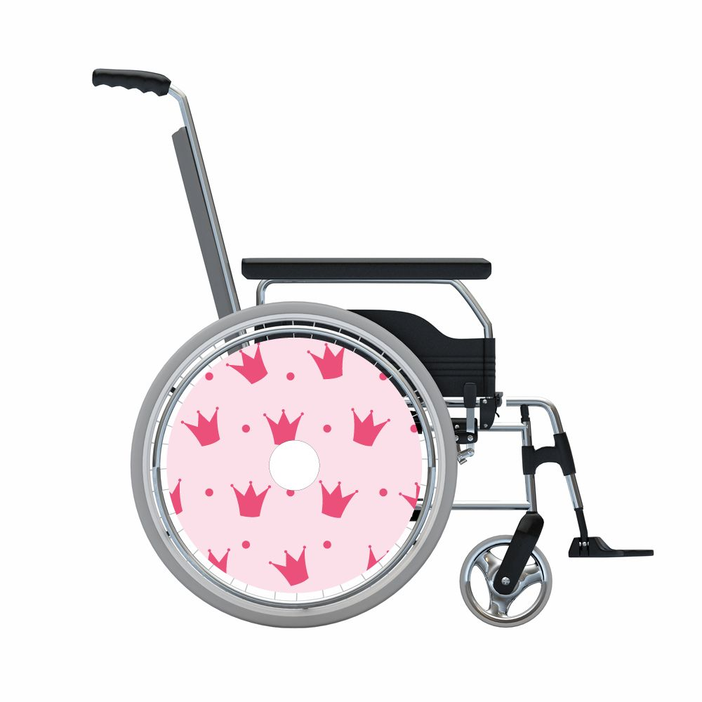 Autocollant protège-rayon couronnes roses print