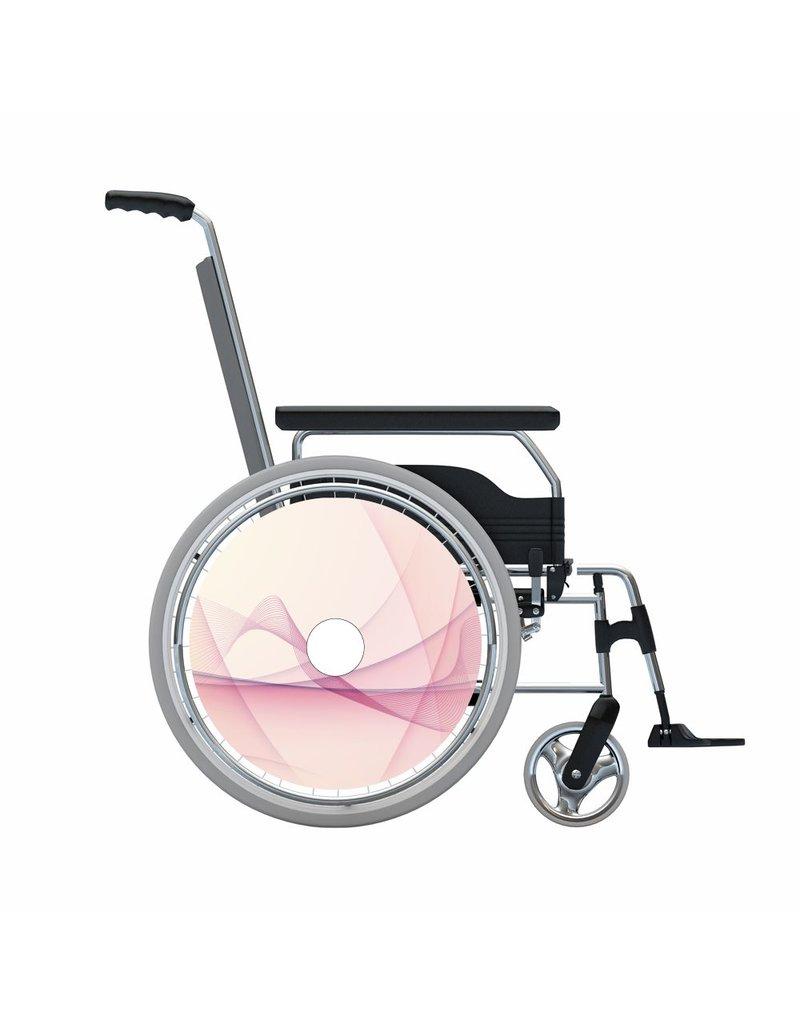 Autocollant protège-rayon rose abstrait 2