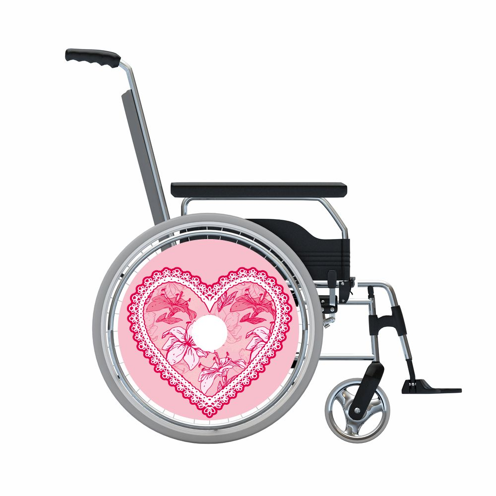 Speichenschutz rosa zackigen Herz