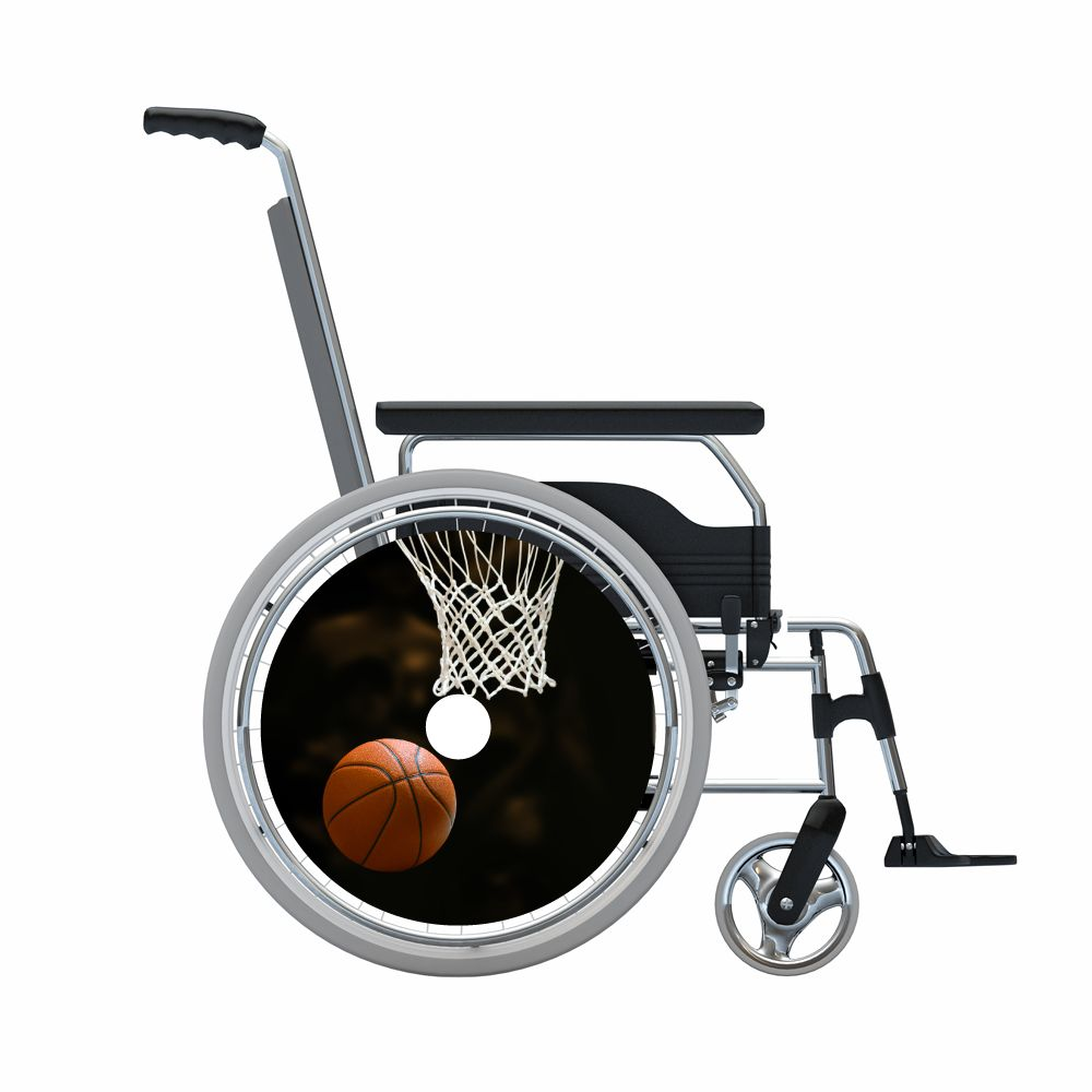 Pegatina protector de radios baloncesto 2