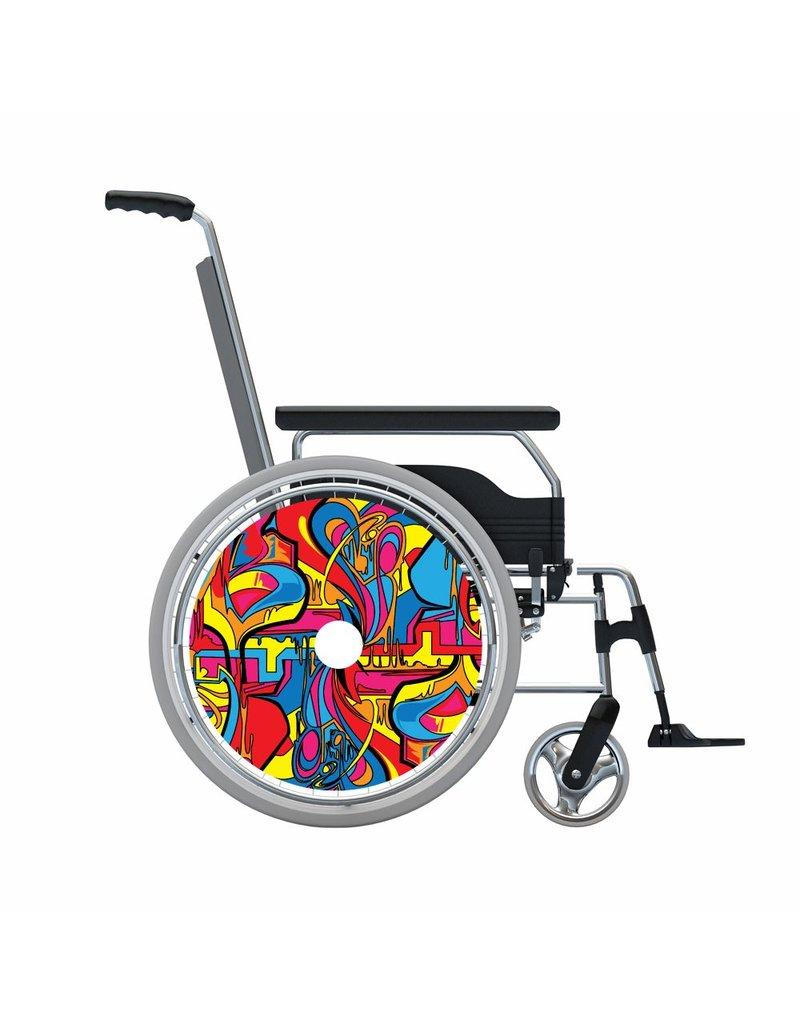Autocollant protège-rayon abstrait et coloré