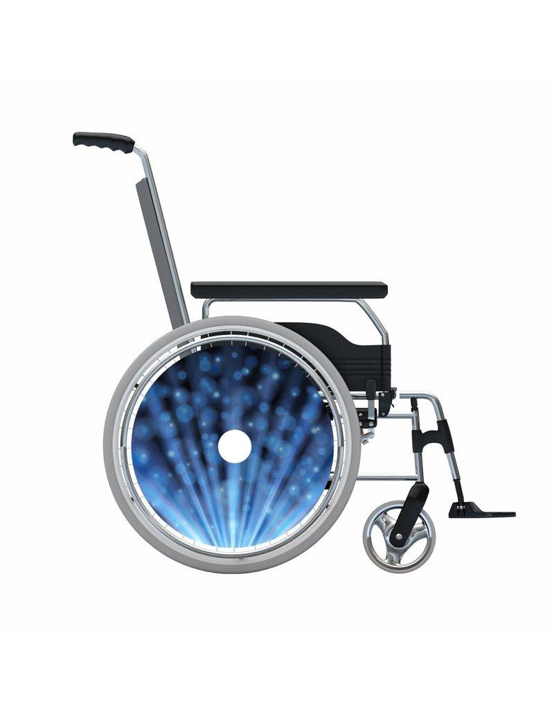 Spaakbeschermer glitter blauw