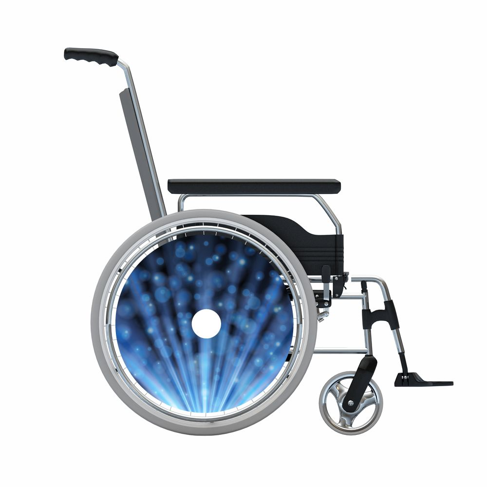 Spoke protector blue glitter