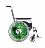 Autocollant protège-rayon fauteuil roulant Œil vert