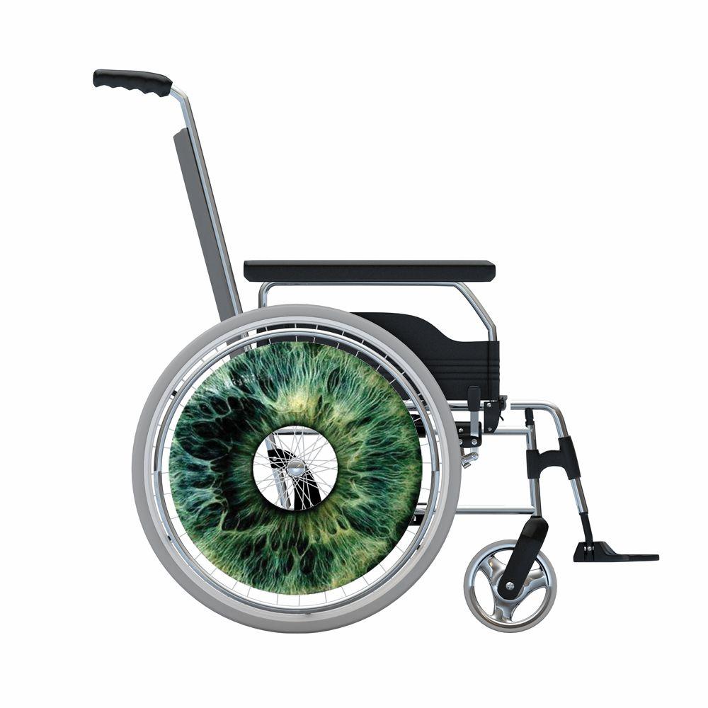Autocollant protège-rayon fauteuil roulant Œil gris