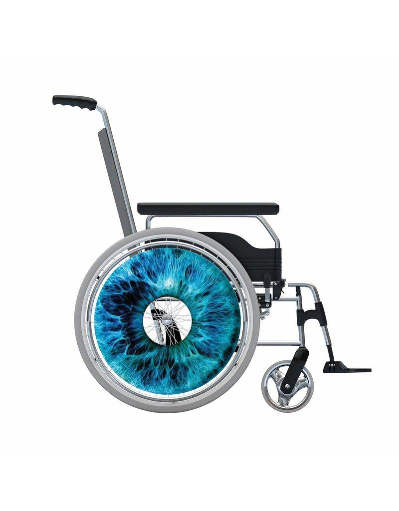 Spoke protector sticker Iris Blue