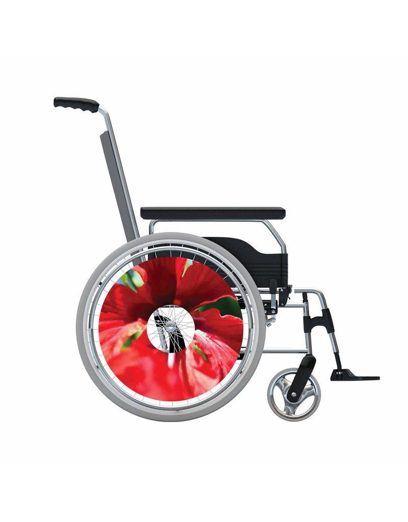 Spaakbeschermer sticker Rode bloem