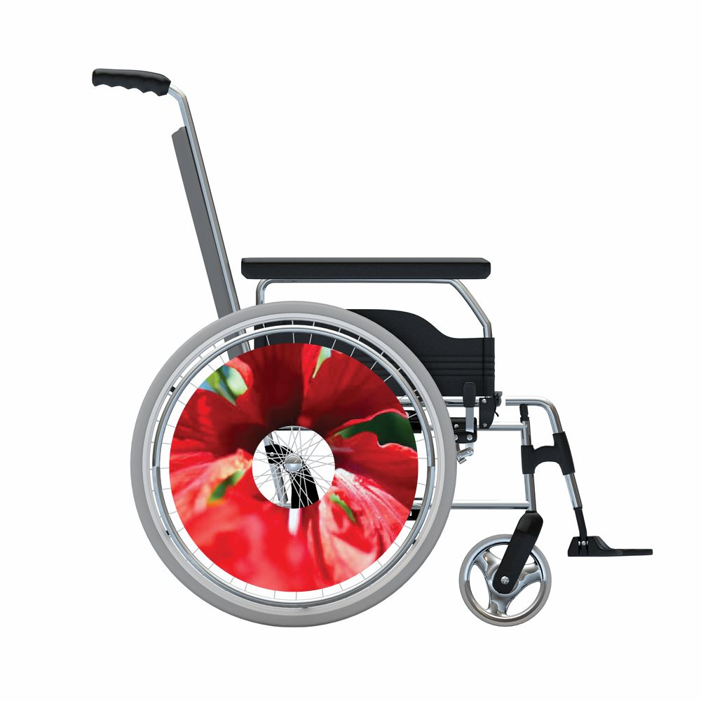 Pegatina protector de radios rojo flor