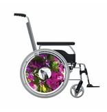 Speichenschutz Sticker Violett Blume