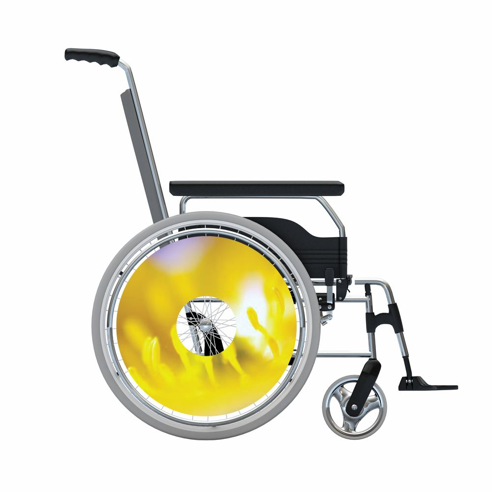 Spoke protector sticker Yellow Flower