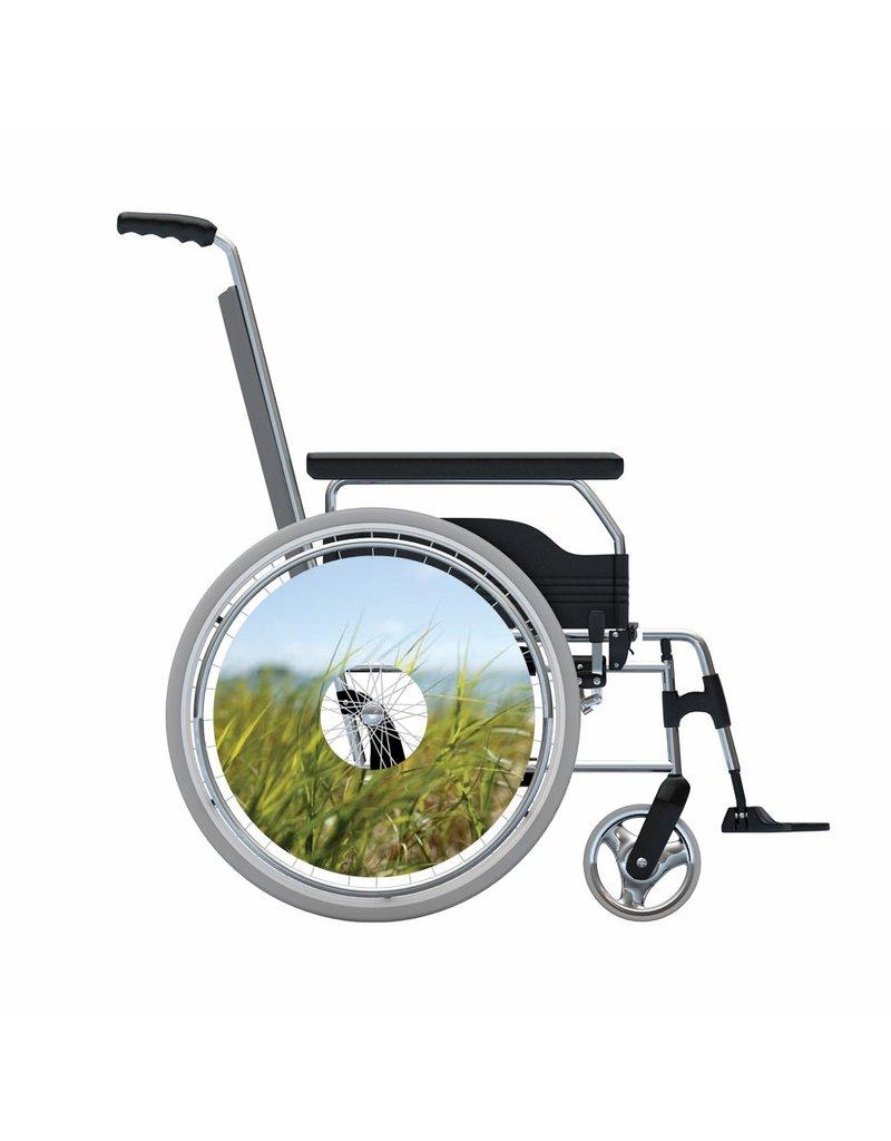Autocollant protège-rayon fauteuil roulant Pelouse