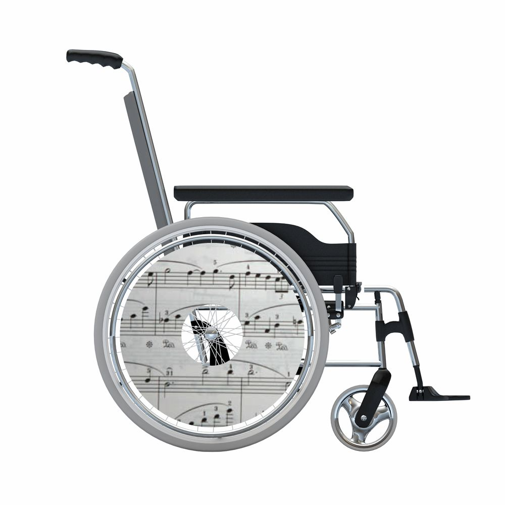 Autocollant protège-rayon fauteuil roulant Partitions