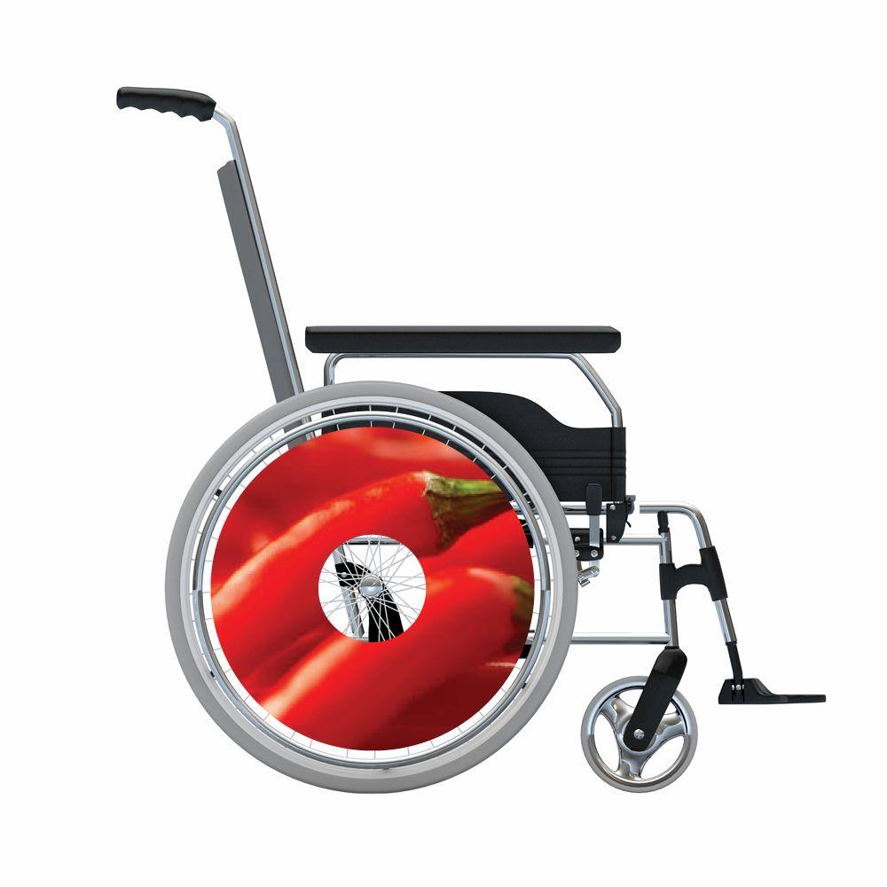 Autocollant protège-rayon fauteuil roulant poivrons