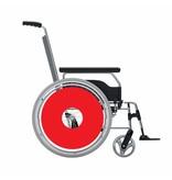 Spoke protector sticker Red