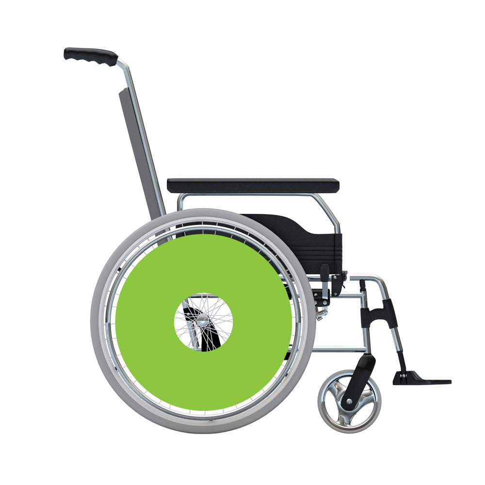 Autocollant protège-rayon vert autocollant
