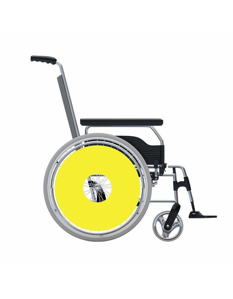 Spoke protector sticker Yellow