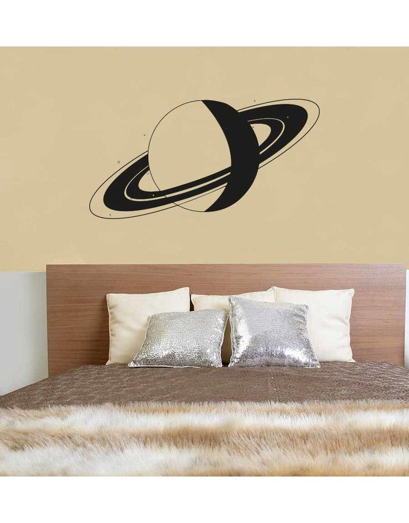 Etiqueta de la pared de Saturno