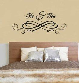 Etiqueta de la pared de texto 3 dormitorios